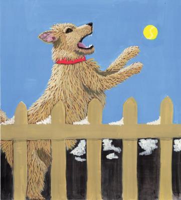 Dog Chasing a Ball