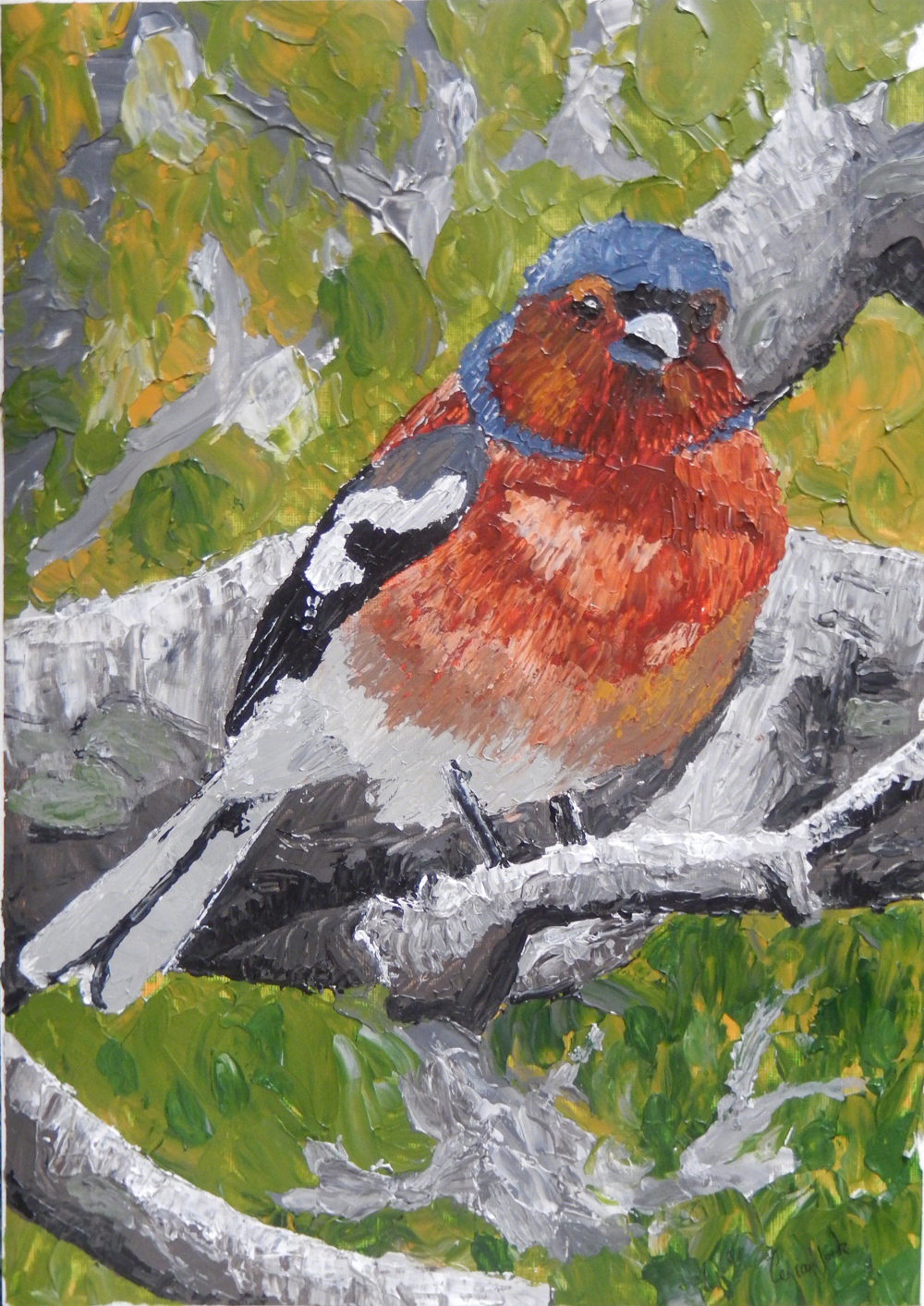 Chaffinch Painting