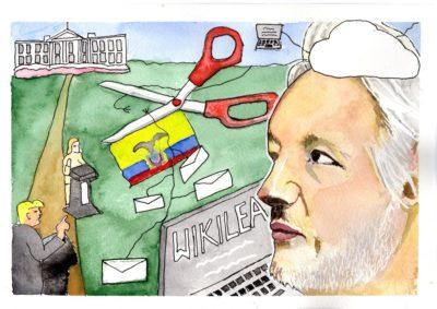 Julian Assange loses internet access in assylum