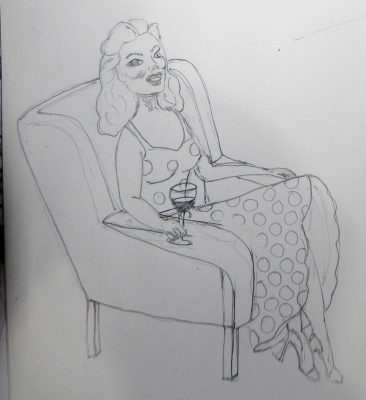 Lady in a chair