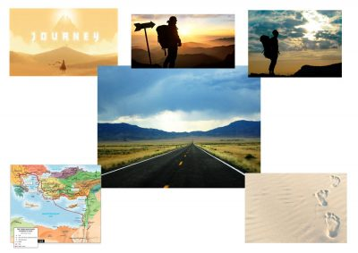 Moodboard for journey