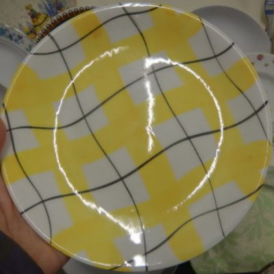 Brightly patterened plate