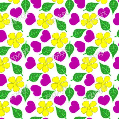 Hearts and flowers design