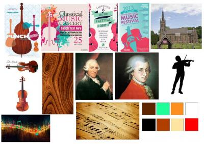 Classical concert poster moodboard