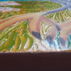 Egret foot close up