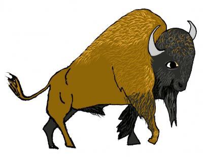 Bison rendered digitally