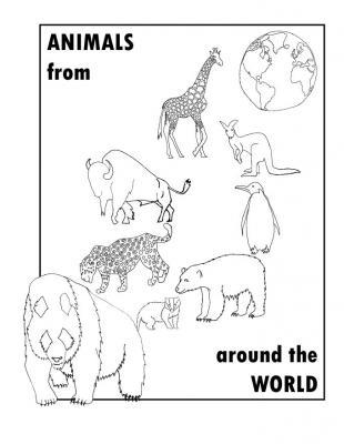 Animals around the work linework 3