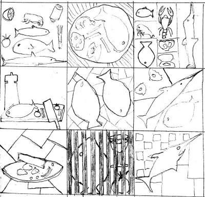 Thumbnails for fish restaurant graphic