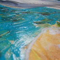 View of Egret impasto background