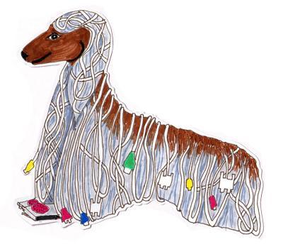 Coloured Plug dog