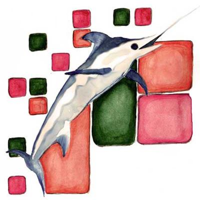 Swordfish watercolour