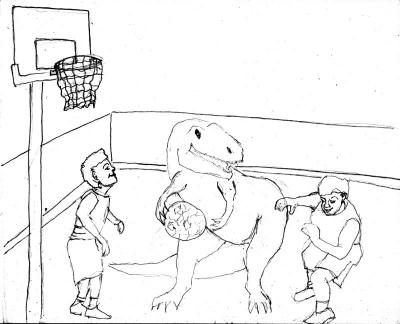 Ginger cookies basketball sketch