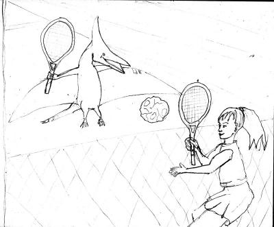 Raisin cookie tennis sketch