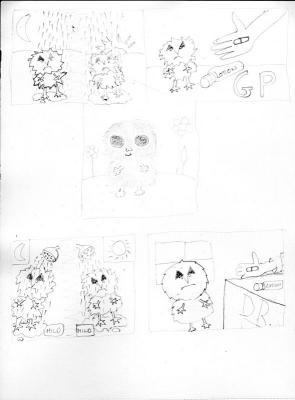 Thumbnail sketches of strip