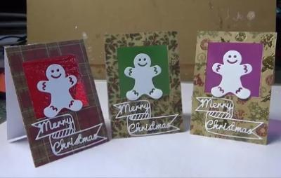 Cellophane window Christmas cards