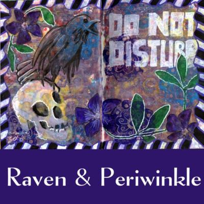 Raven and periwinke art journal