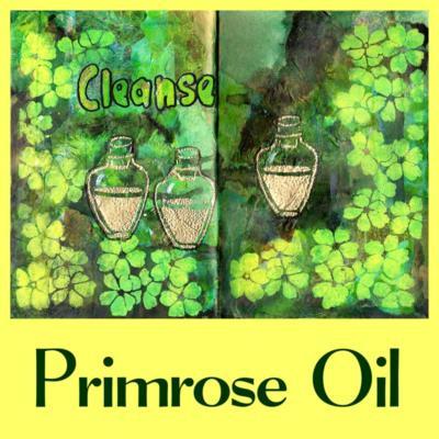 Yellow primrose art journal page