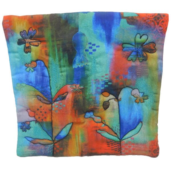 Cushion cover showing campion bells painting