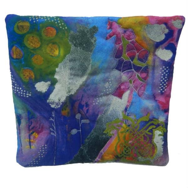 Cushion cover showing foxglove fancy art