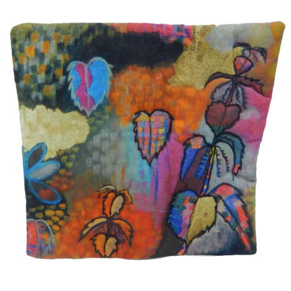 Cushion showing Nettle Nights painting