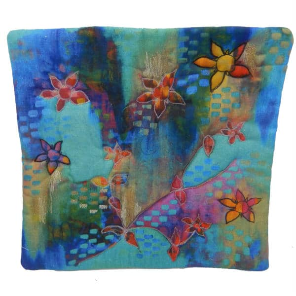 Cushion cover showing Pimpernel art