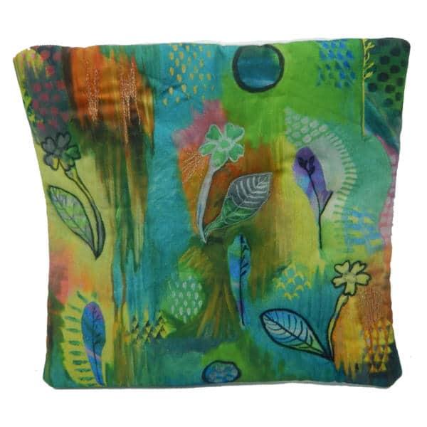 Cushion showing primrose rain