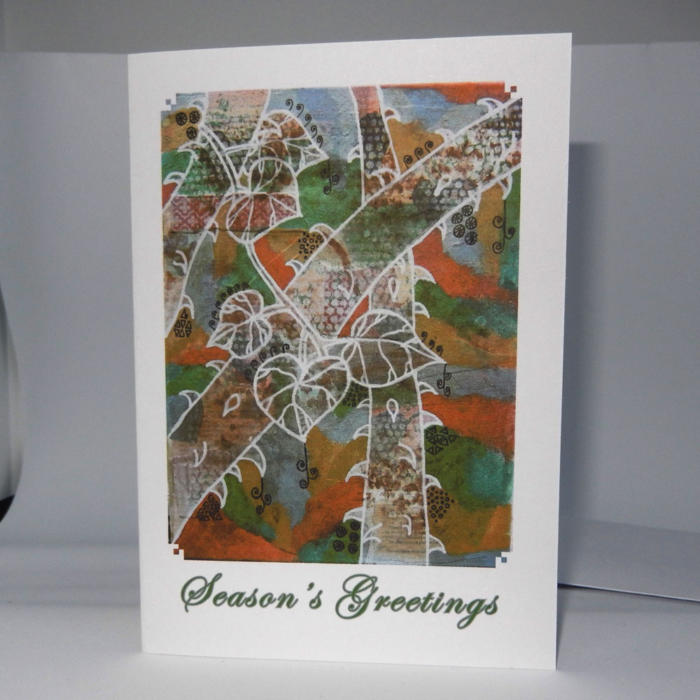 Winter Art Xmas Card