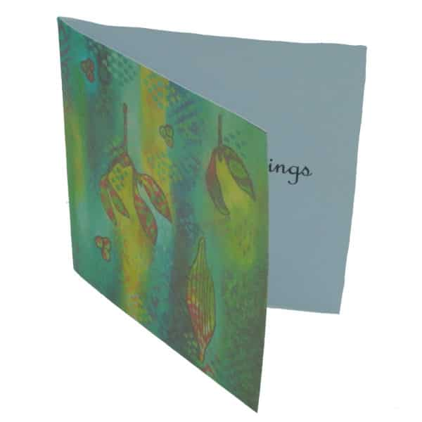 Side view of mistletoe card