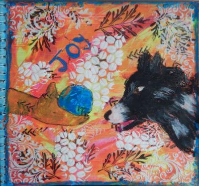 Joyful art journal page